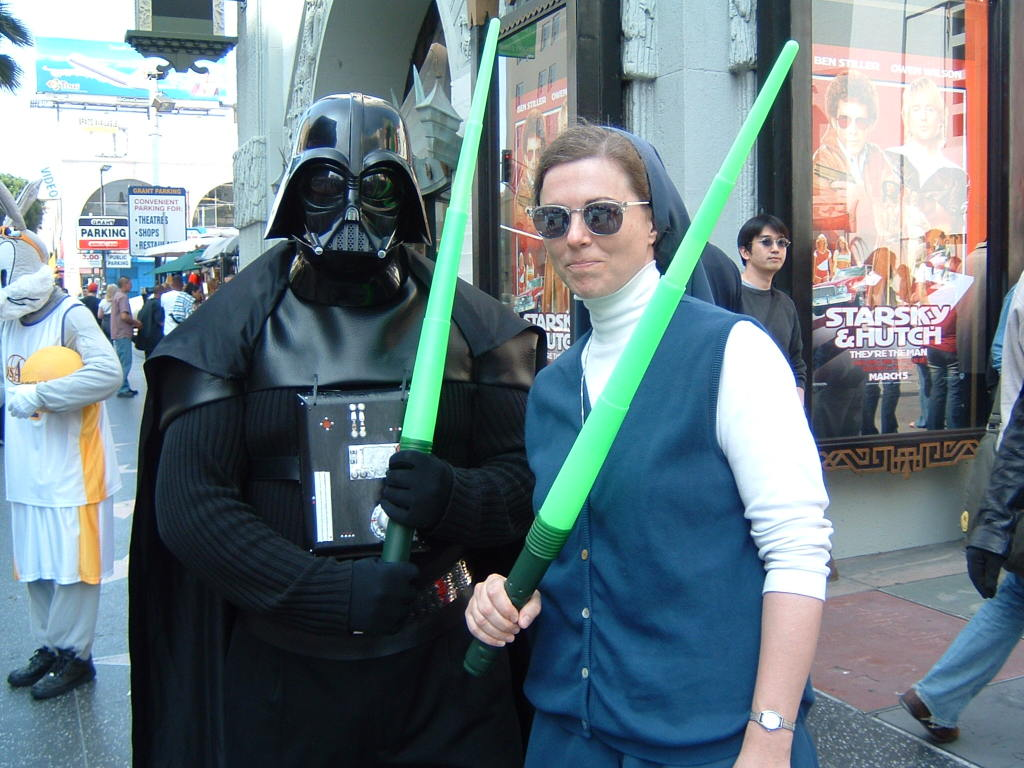 WITH DARTH IN HOLLYWOOD, WALK OF THE STARS