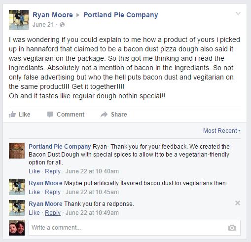 bacon dust vegetarian pizza dough