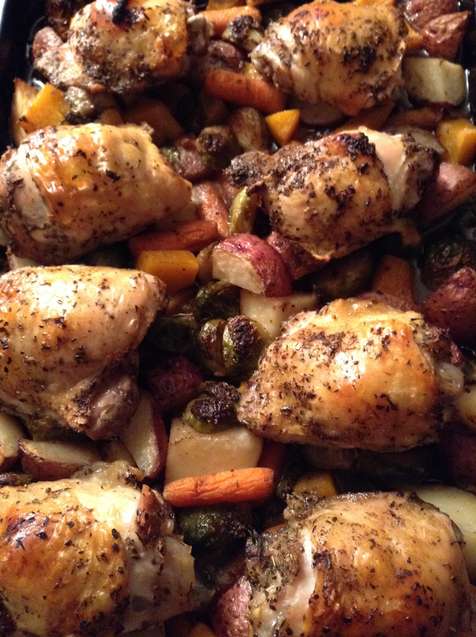 food blog chicken and veg