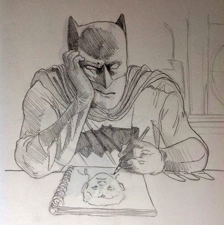 matt clark batman gets bored with his own drawings