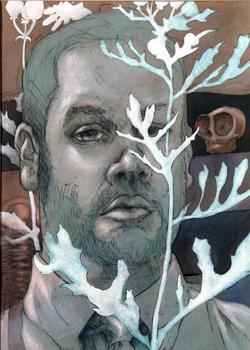 matt clark self portrait blue