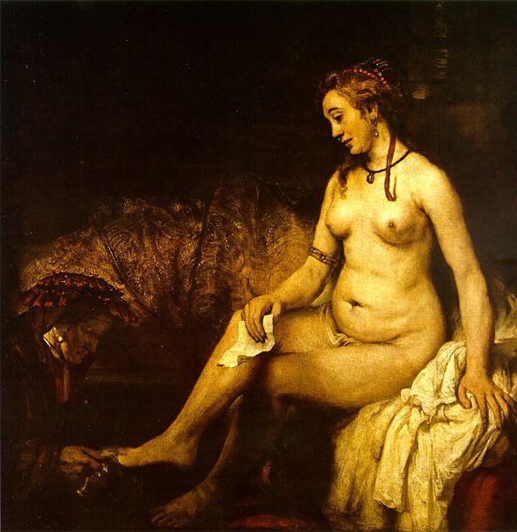 Rembrandt_Bathsheba_in_het_bad,_1654