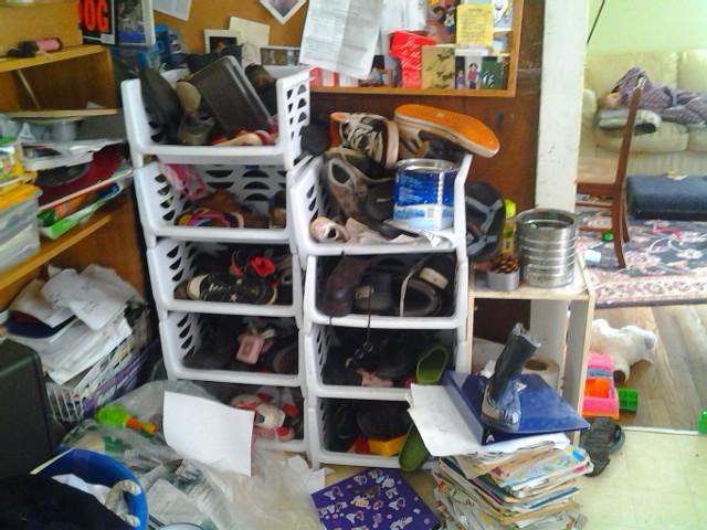 shoe bins now