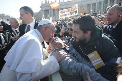 Cesare Cecconi e Papa Francisco