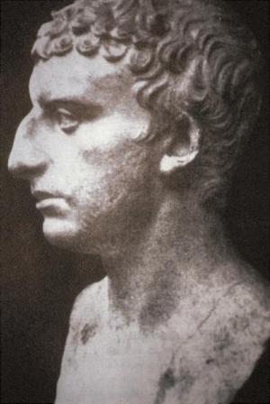 Busto romano que representaria a Flavio Josefo (37/38 — 100 dC)