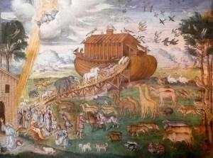 Arca de Noé. Afresco na igreja de São Maurizio, Milão.