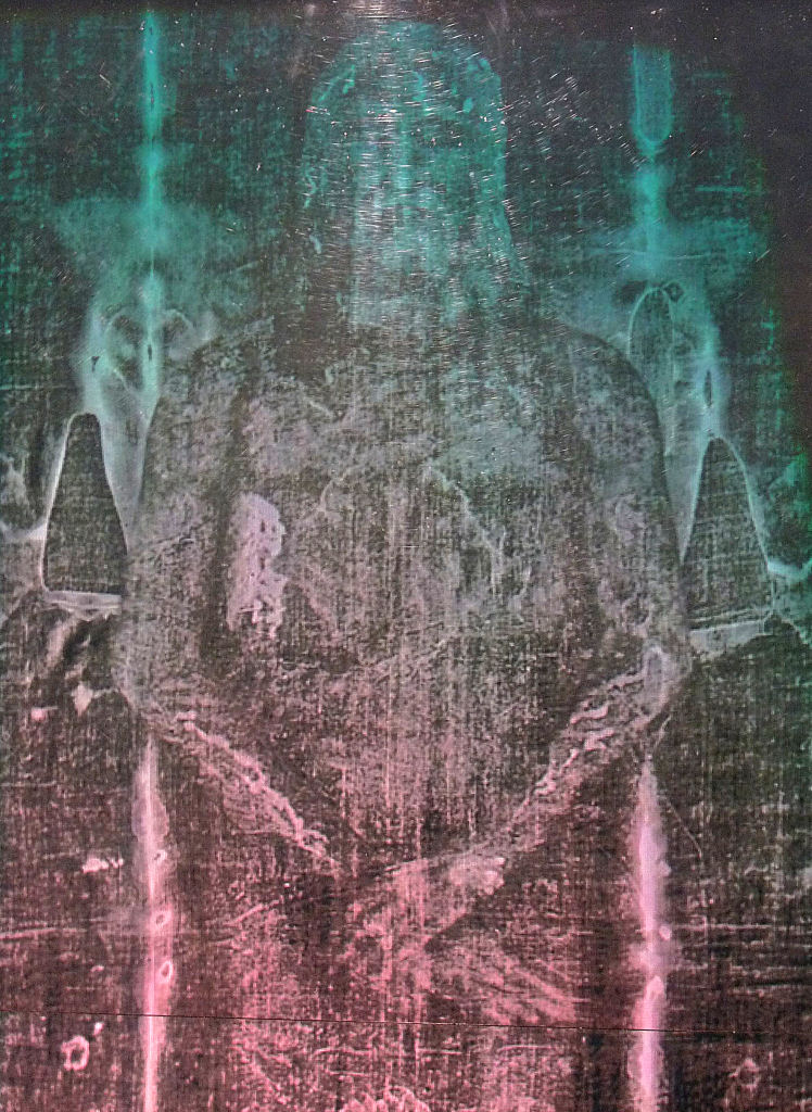 Imagem holográfica do Santo Sudário, detalhe