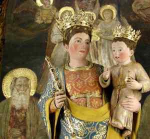 Isaías profetizou que uma Virgem daria a luz o Messias. Isaías aparece em afresco recentemente descoberto na Basílica de Santo Antonio em Pádua.