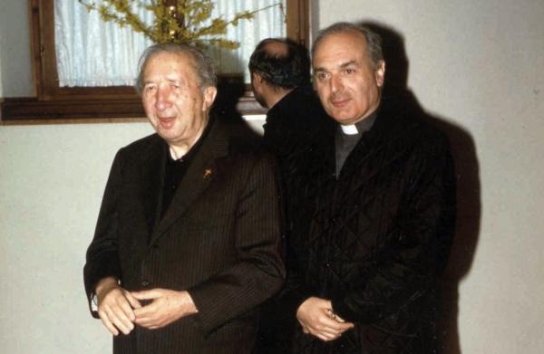 Monsignor Luigi Giiussani e il vescovo Massimo Camisasca